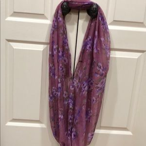 Accessories - Purple Floral Scarf